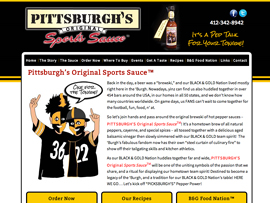 Pittsburgh's Original Sports Sauce