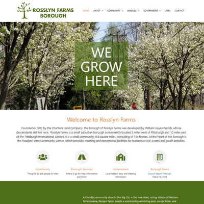 Rosslyn Farms website thumbnail